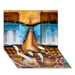 Graffiti Sunglass Art LOVE Bottom 3D Greeting Card (7x5)
