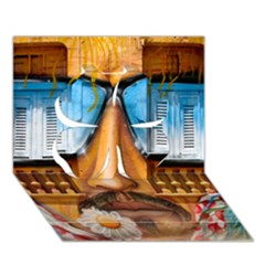 Graffiti Sunglass Art Clover 3d Greeting Card (7x5)