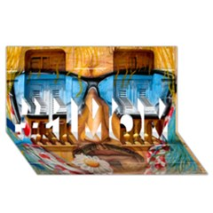Graffiti Sunglass Art #1 Mom 3d Greeting Cards (8x4)