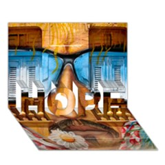 Graffiti Sunglass Art Hope 3d Greeting Card (7x5)