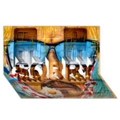 Graffiti Sunglass Art Sorry 3d Greeting Card (8x4)