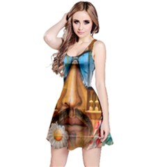 Graffiti Sunglass Art Reversible Sleeveless Dresses