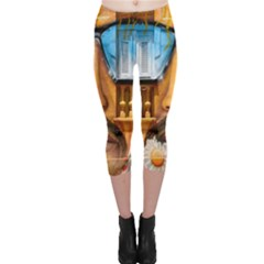 Graffiti Sunglass Art Capri Leggings