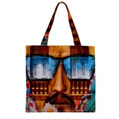 Graffiti Sunglass Art Zipper Grocery Tote Bags