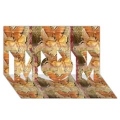 Butterflies Mom 3d Greeting Card (8x4)