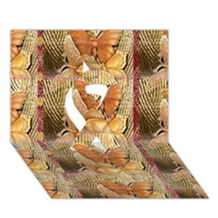 Butterflies Ribbon 3D Greeting Card (7x5)