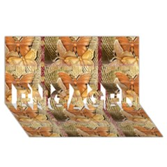 Butterflies ENGAGED 3D Greeting Card (8x4)