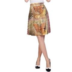 Butterflies A-Line Skirts