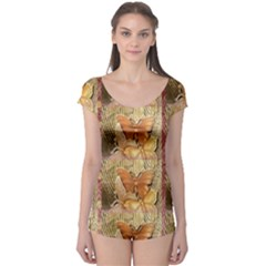 Butterflies Short Sleeve Leotard