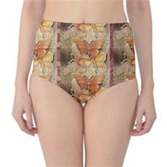 Butterflies High-Waist Bikini Bottoms
