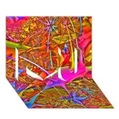 Biology 101 Abstract I Love You 3d Greeting Card (7x5)