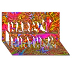 Biology 101 Abstract Happy Birthday 3D Greeting Card (8x4)