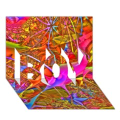 Biology 101 Abstract Boy 3d Greeting Card (7x5)