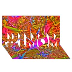 Biology 101 Abstract #1 Mom 3d Greeting Cards (8x4)