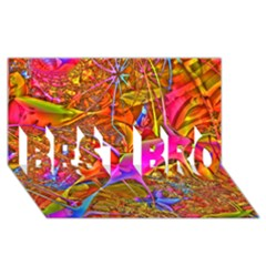 Biology 101 Abstract BEST BRO 3D Greeting Card (8x4)
