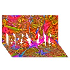 Biology 101 Abstract Best Sis 3d Greeting Card (8x4)