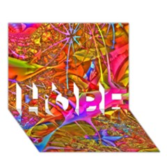 Biology 101 Abstract Hope 3d Greeting Card (7x5)