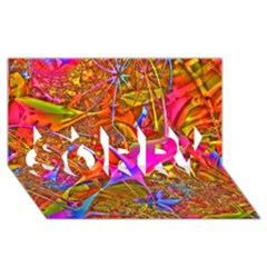 Biology 101 Abstract Sorry 3d Greeting Card (8x4)