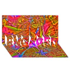 Biology 101 Abstract ENGAGED 3D Greeting Card (8x4)