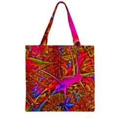 Biology 101 Abstract Grocery Tote Bags
