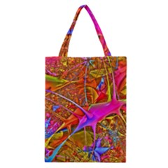 Biology 101 Abstract Classic Tote Bags