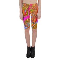 Biology 101 Abstract Cropped Leggings
