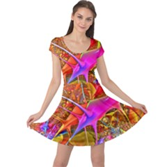 Biology 101 Abstract Cap Sleeve Dresses