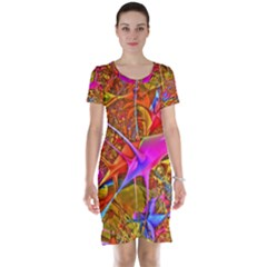 Biology 101 Abstract Short Sleeve Nightdresses