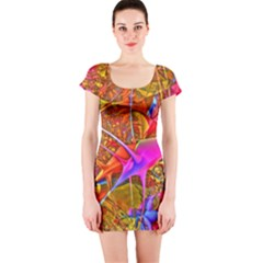 Biology 101 Abstract Short Sleeve Bodycon Dresses