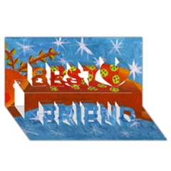 Rudolph The Reindeer Best Friends 3d Greeting Card (8x4)