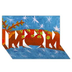 Rudolph The Reindeer Mom 3d Greeting Card (8x4)