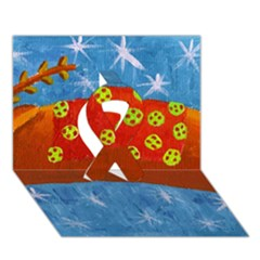 Rudolph The Reindeer Ribbon 3D Greeting Card (7x5)