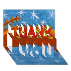 Rudolph The Reindeer Thank You 3d Greeting Card (7x5)