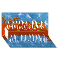Rudolph The Reindeer Congrats Graduate 3D Greeting Card (8x4)