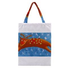 Rudolph The Reindeer Classic Tote Bags