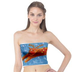 Rudolph The Reindeer Women s Tube Tops