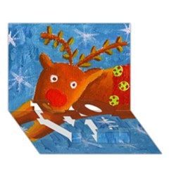 Rudolph The Reindeer LOVE Bottom 3D Greeting Card (7x5)