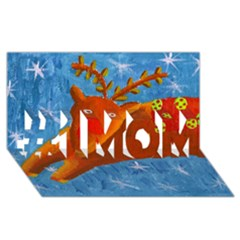 Rudolph The Reindeer #1 Mom 3d Greeting Cards (8x4)