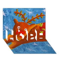 Rudolph The Reindeer Hope 3d Greeting Card (7x5)