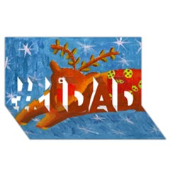 Rudolph The Reindeer #1 DAD 3D Greeting Card (8x4)