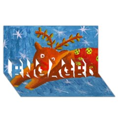 Rudolph The Reindeer Engaged 3d Greeting Card (8x4)