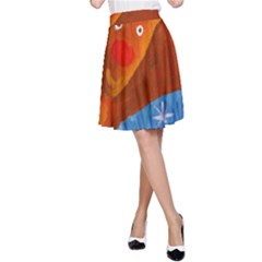 Rudolph The Reindeer A-Line Skirts