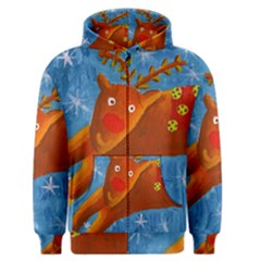 Rudolph The Reindeer Men s Zipper Hoodies