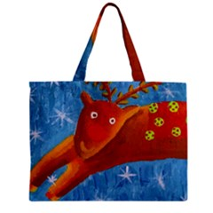 Rudolph The Reindeer Zipper Tiny Tote Bags