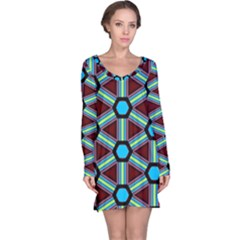Stripes And Hexagon Pattern Nightdress