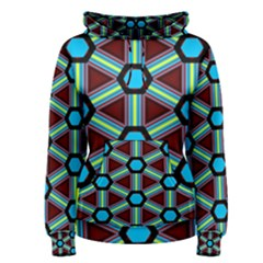 Stripes and hexagon pattern Pullover Hoodie