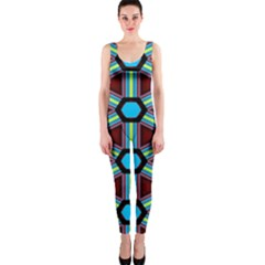 Stripes and hexagon pattern OnePiece Catsuit