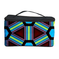 Stripes and hexagon pattern Cosmetic Storage Case
