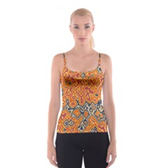 Red Blue Yellow Chaos Spaghetti Strap Top