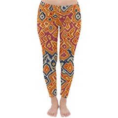 Red Blue Yellow Chaos Winter Leggings